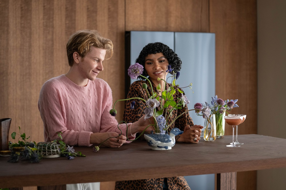 Flynn McGarry(left) and Sophia Roe discuss decorations for a Bespoke-inspired dinner party (2)